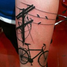 Cycle Tattoo with birds