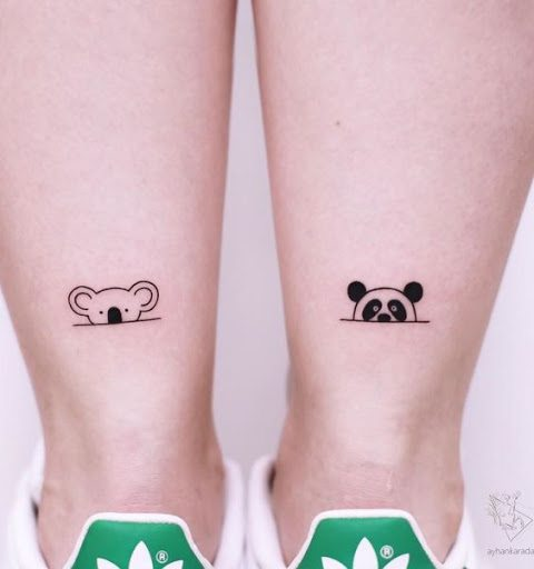 panda half head tattoo