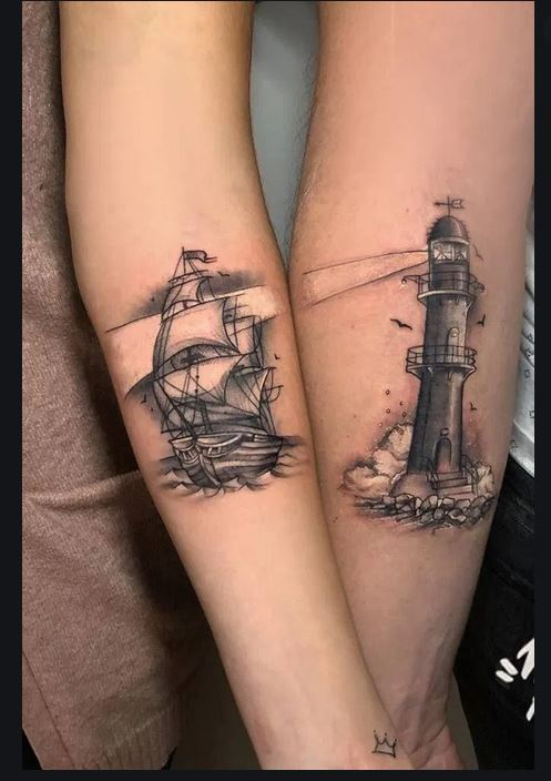 Ship Tattoo for men and women both
