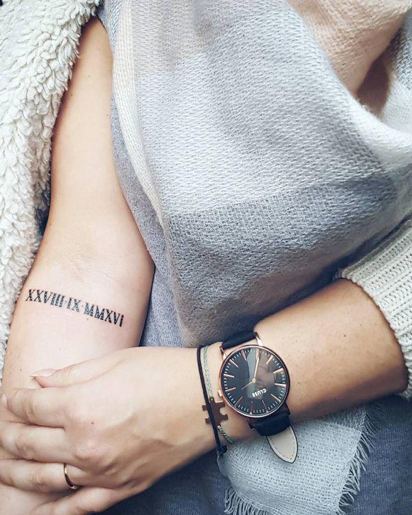 Roman Numerals Tattoo