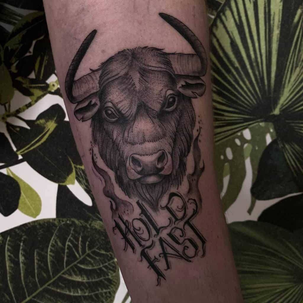 Bold Hold fast tattoo for men