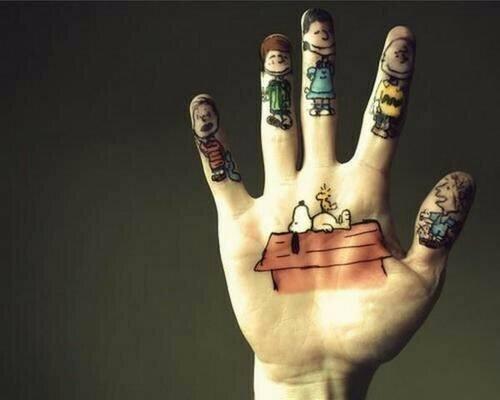 Cartoon Tattoo on hands for men