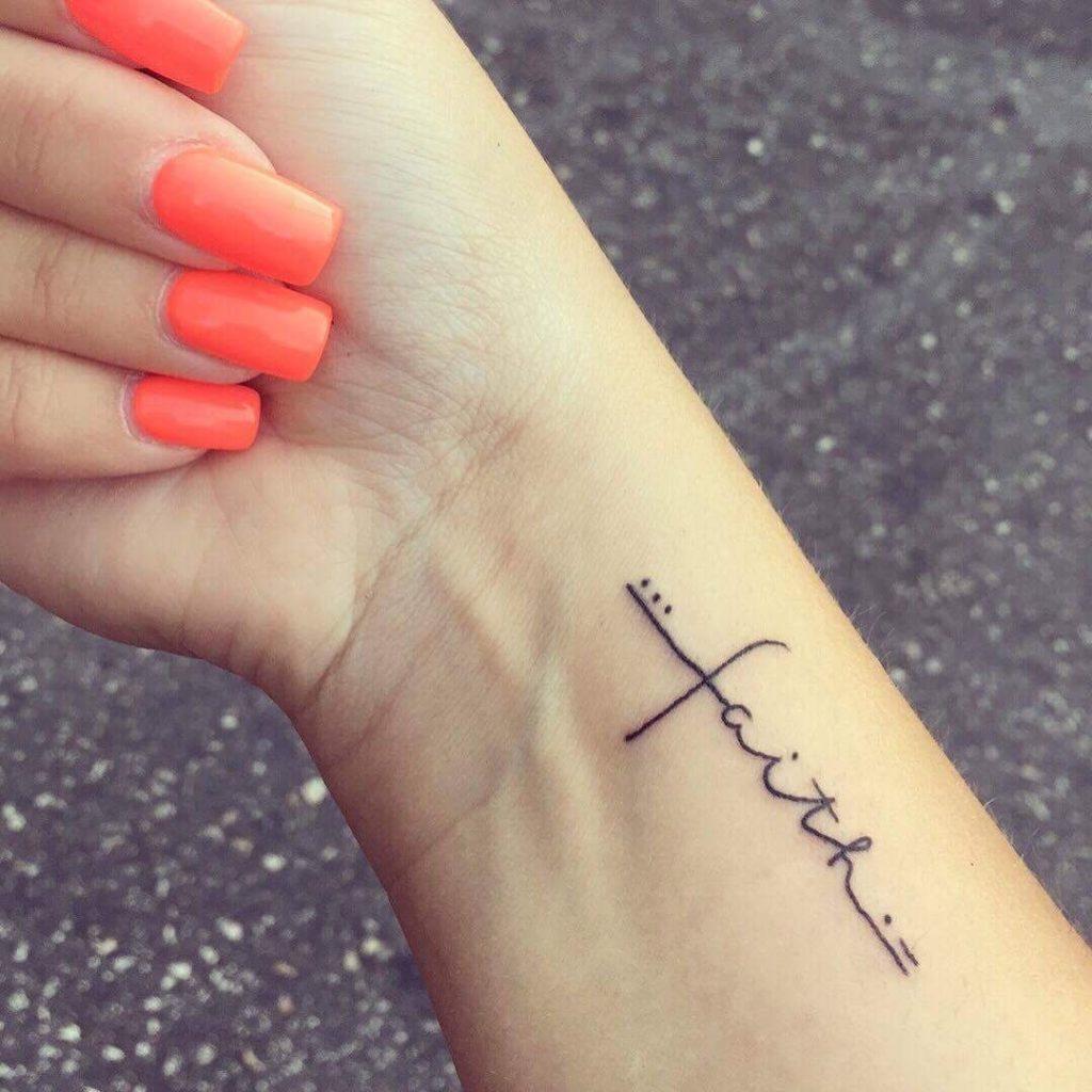 Faith Tattoo on wrist for women