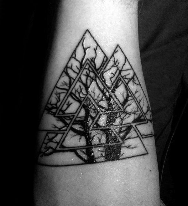 Valkunt tattoo for men