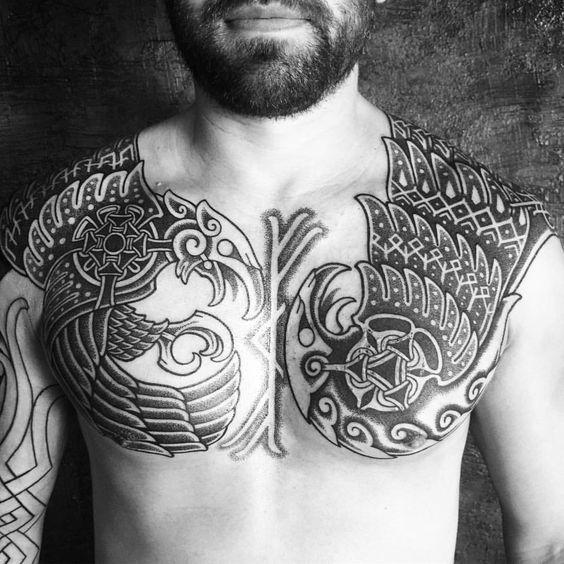 Black ink tattoo for men