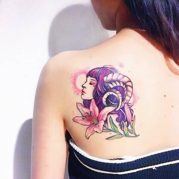 Aries Tattoo for women at back