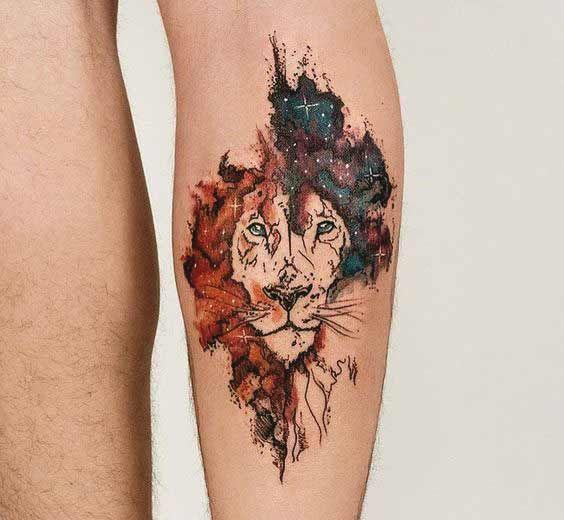 Leo Lion tattoo on hand