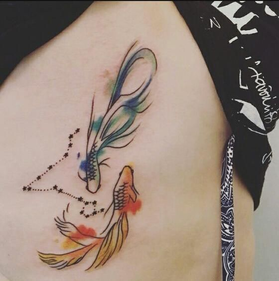 Cool Pisces tattoo