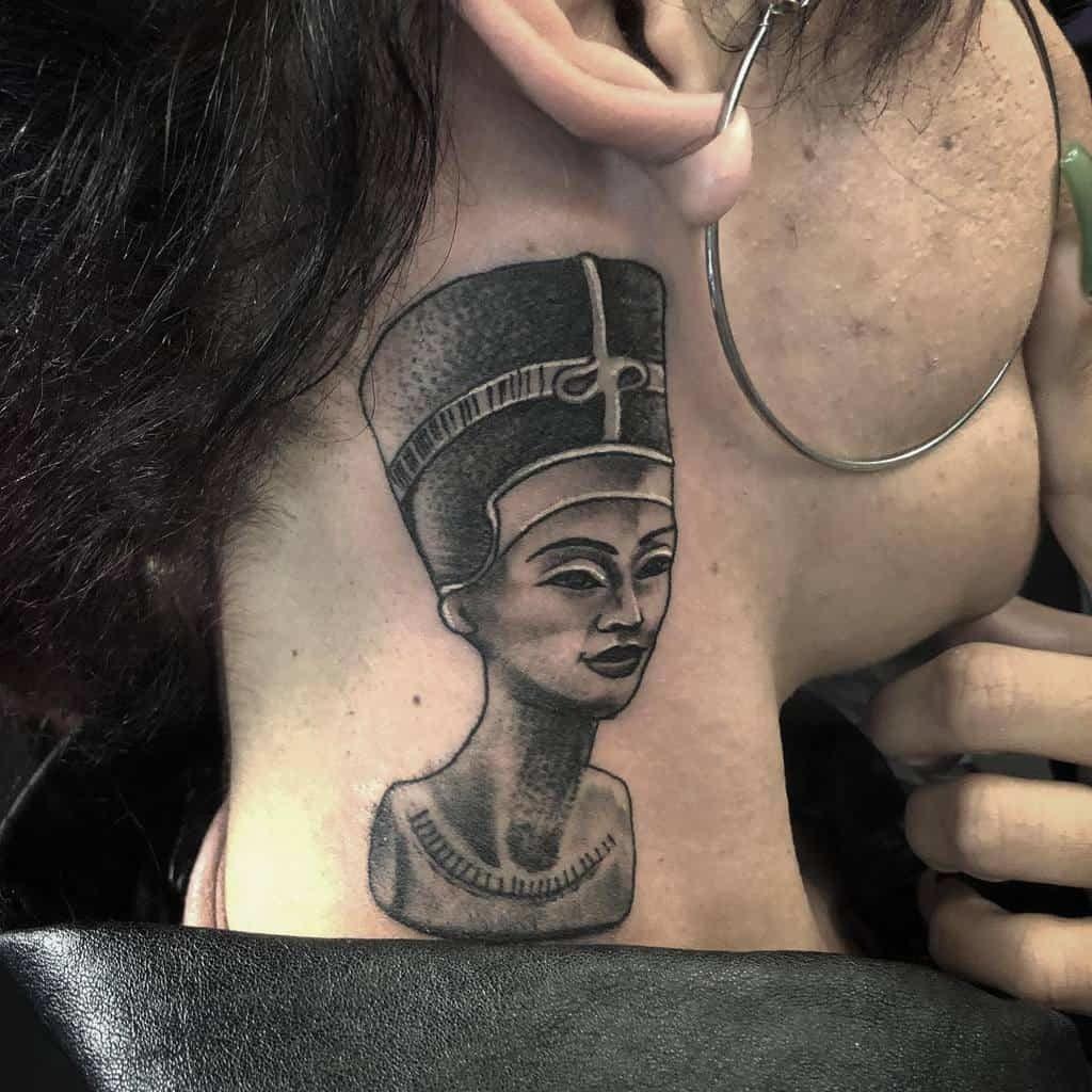 Tattoo near ear for women