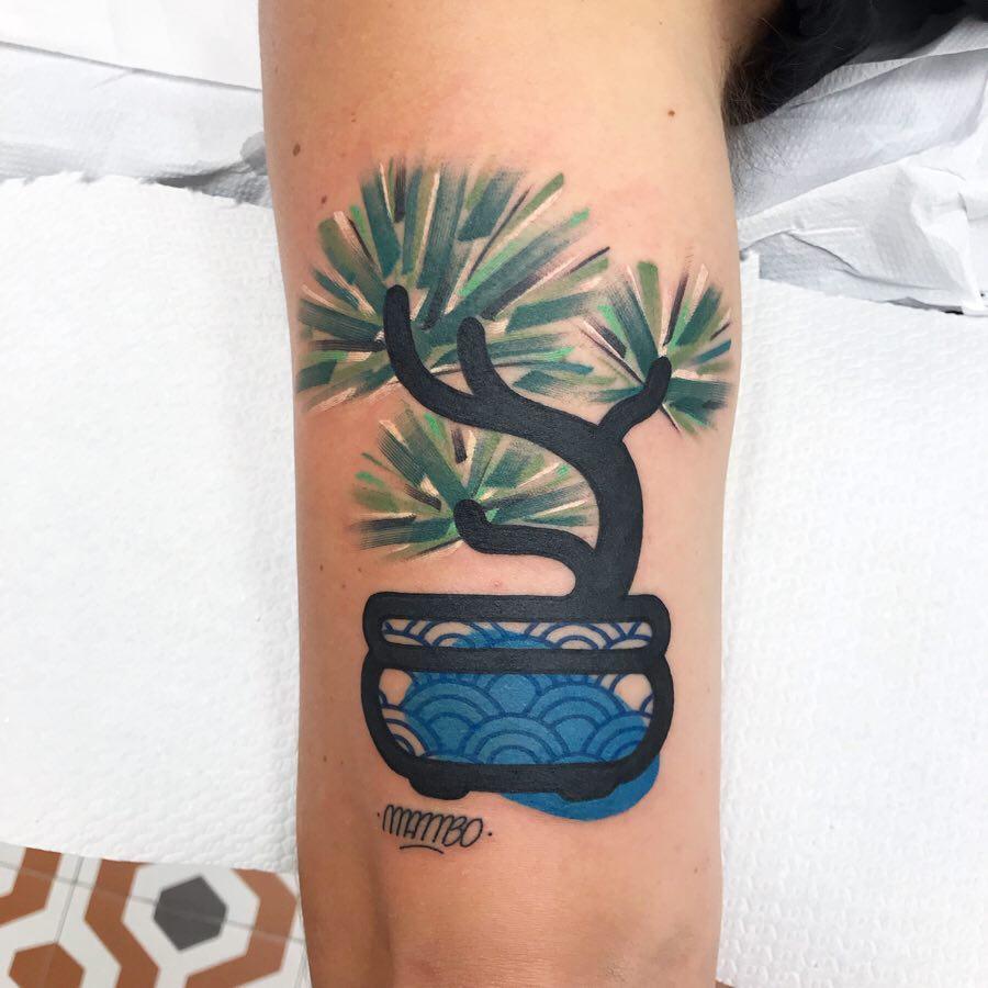 Plant pot Mambo tattoo