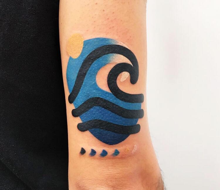 Sea Wave Tattoo