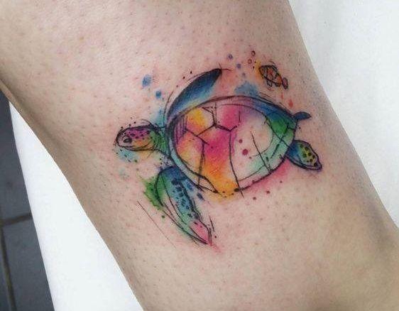 Minimal Watercolor Tattoo