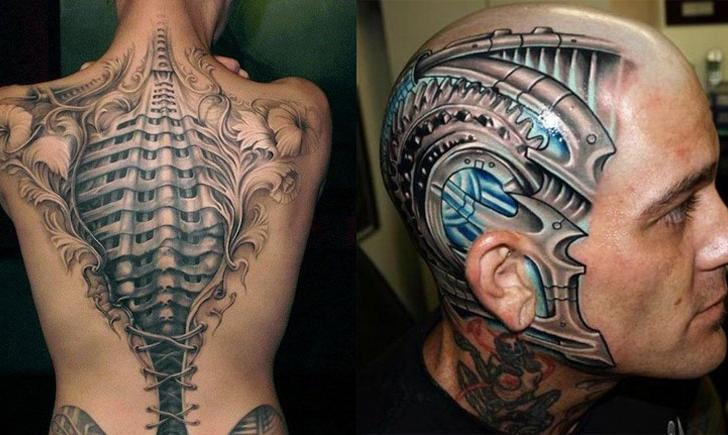 Robotic Bio Mechanical Tattoo for men