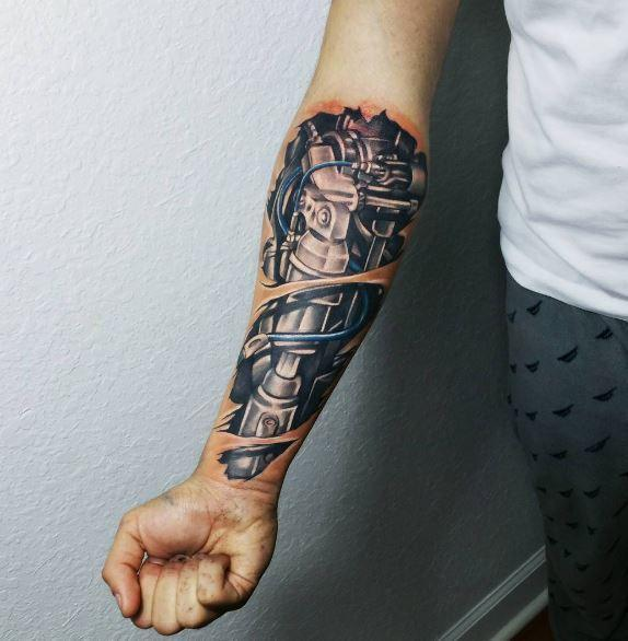 Cool Machine Tattoo